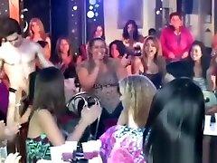 CFNM stripper sucked by wild nylon hd movie girls at party
