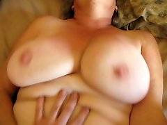 SWINGING TITS AND BUTTERFLY PUSSY LIPS - SEXY SILVER MATURE - HUGE PUSSY