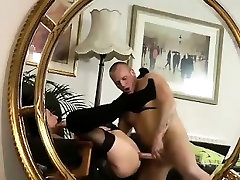 Stockings milf rimmed and fucked
