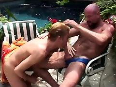 Twink Sucking a Gay Bear Power Cock
