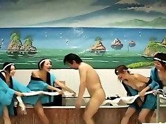 Subtitles Japanese bathhouse bizarre group bathing