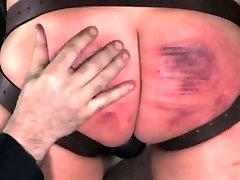 Brutal scarification for worthless sub