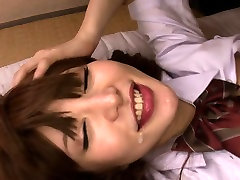 Petite japanese schoolgirl swallows cum