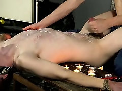 Hardcore gay The sadistic man has his sub trussed down and