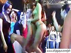 Juicy drunk women on party