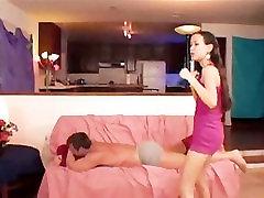 Skinny Asian Beats Up Her Man, Then Fucks Him