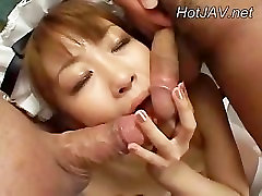 Horny Asian girl do mass BJ