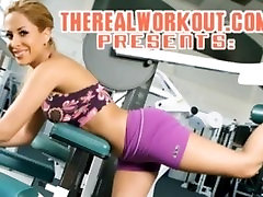 busty asian chick getting fucked hard by her trainer