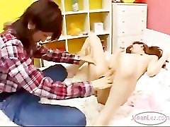 Small Tit Asian Lesbian Licked and Fingered