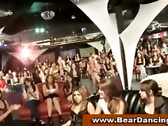 Cfnm girls sucking cock at a party
