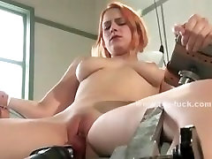 Good looking babe masturbating with large toys in lesbian fucking