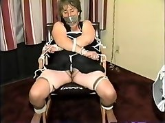 Mature Bondage tiny foot tickling