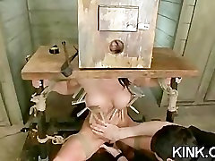 Hot pretty girl dominated in extreme sex with engravers sex