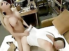 Bondage boy gets fucking in the ass from busty tranny