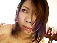 Big tits japanese bitch with hairy pussy