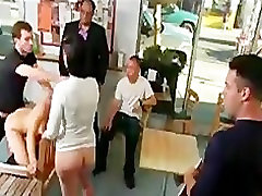 Lesbian babes anally fucked in comic book store