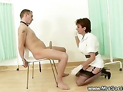 Mistress wants his cock hard so she teases it