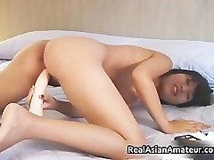 Irresistable busty asian cutie dildo part4
