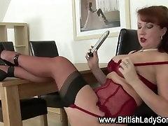 Lingerie slut masturbates