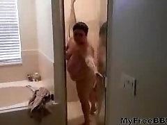 Wife Is Shower 2 BBW fat bbbw sbbw bbws bbw porn plumper fluffy cumshots c
