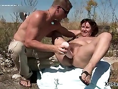 Hairy mature slut gets her pussy fucked part1