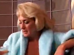 Sexy Granny Blond Gets Her Tits Grabbed By Sexy Young Brunette mature ma