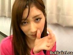 Asian babe gets bukkake 4 by BukkakeLoad part5