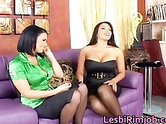 Amazing en sex hd full in stocking riding strapon part1
