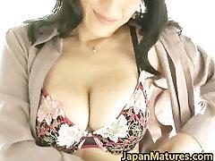 Horny japanese mature babes sucking part4