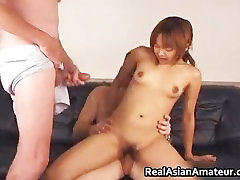 Horny petite asian slamming her pussy part2