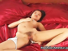 Petite real real asian in see through part4