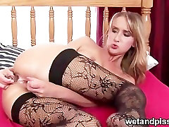 Anal and piss squirting video