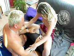 Blond couple in a 69