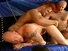 Bizarre bisexual act with hot men,one even has a REAL pussy