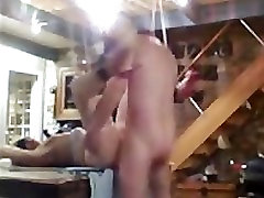 Wax and Spanking for Emma in BDSM Barn