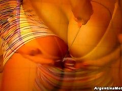 Ultra Tight Leggins Cameltoe, Big Tits! Oiling Pussy! Hot