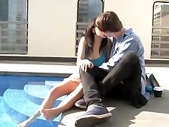 Brunette real aussie gets fucked