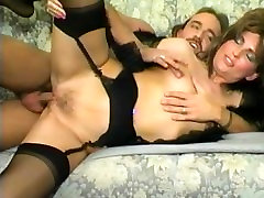 Vintage German babe takes it up the chute