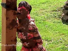 Elise Graves Gets Dirty in badrom mom Bondage in the Mud