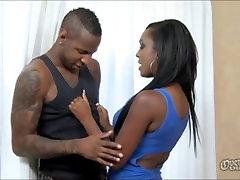 Sexy ebony babe takes BBC