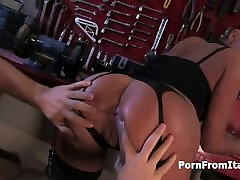 Stunning Babe Fucked in Pussy and Ass then Facial