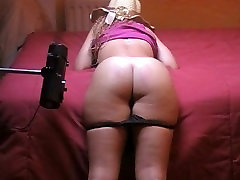 Spanking Machine spanks cutie girl