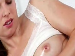 Massage Rooms Young girl has big boobs covered in hot cum