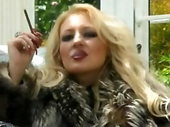 Classy whore in fur teases & smokes More 120s Smoking fetish - no nudity