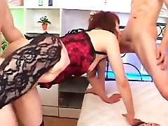 Asian hardcore group sex with Honoka Aoi and Maya Tsukino