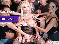 FORBONDAGE - Anal rusis sex porno Group Fun With Busty MILF Barbie Sins