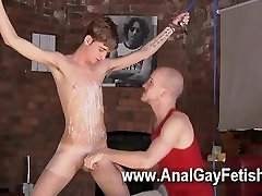 Gay video Twink stud Jacob Daniels is his recent meal, trussed up and