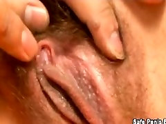 Asian sex scene ends with creampie