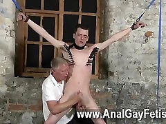 Hot twink Sean McKenzie is trussed up and at the grace of sir Sebastian