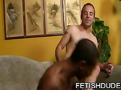 Little Blunt and Billy DeWitt: Black Man Adoring A Hairy White Ass